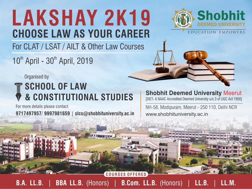 Lakshay 2k19 - Choose Law as your Career