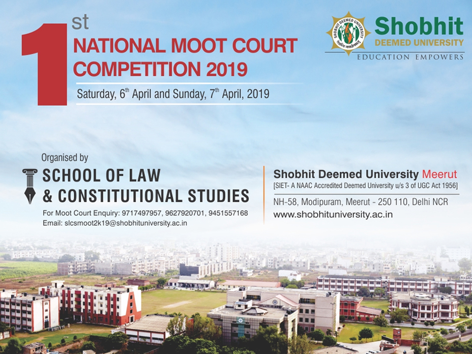 1st National Moot Court Competition 2019