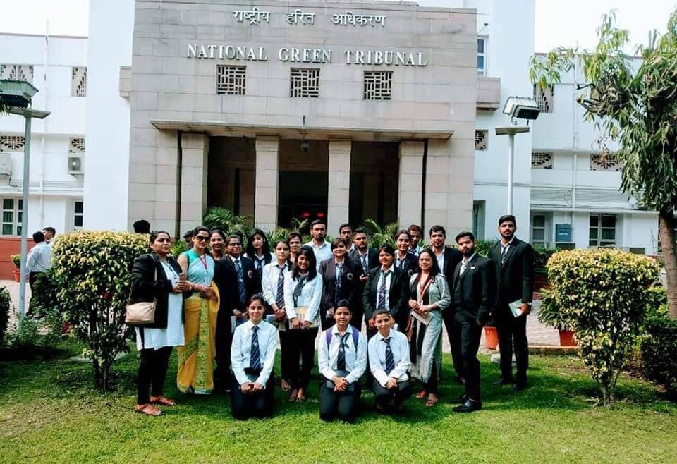 Shobhit Uiversity Law students visited National Green Tribunal (NGT) New Delhi