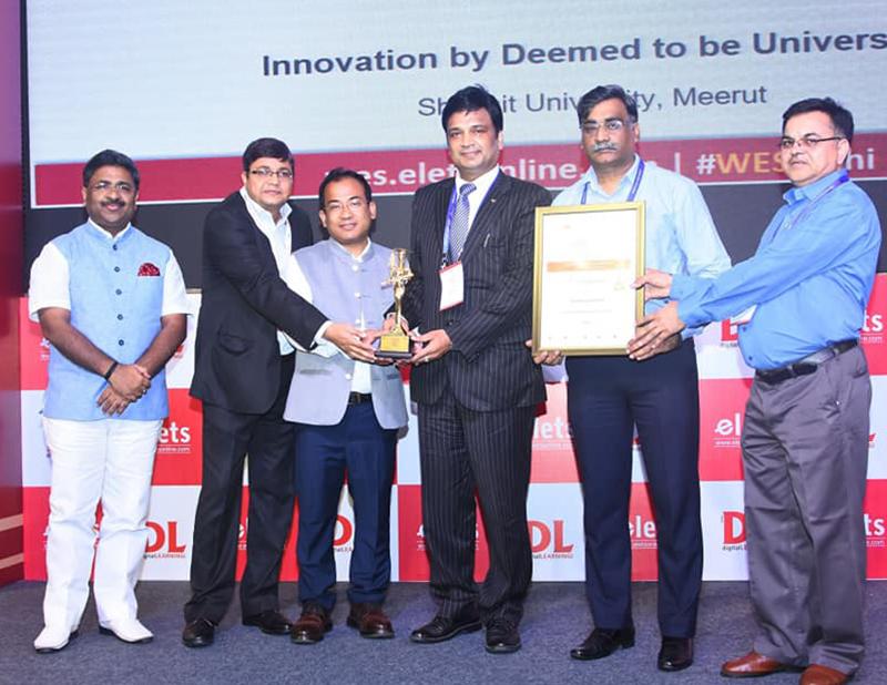 Shobhit Deemed University Meerut has been awarded