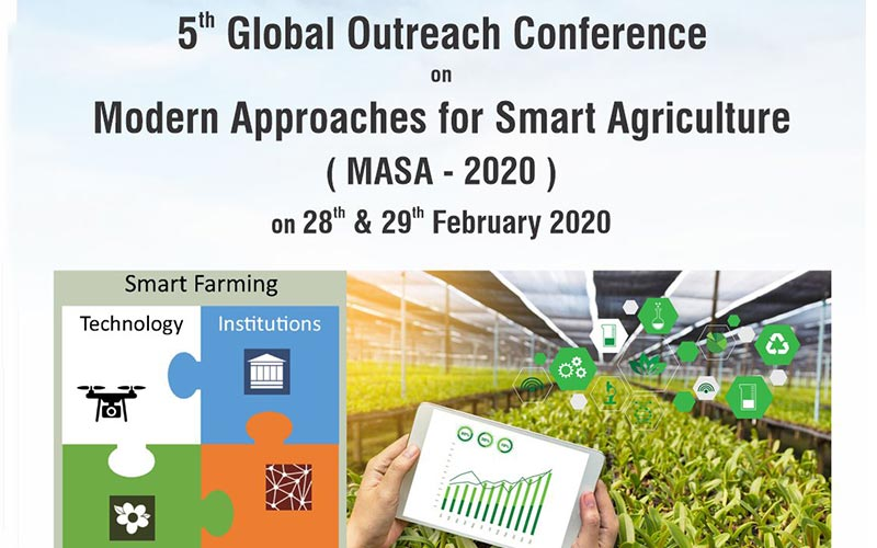 5th Global Outreach Conference on Modern Approaches for Smart Agriculture  (MASA - 2020)